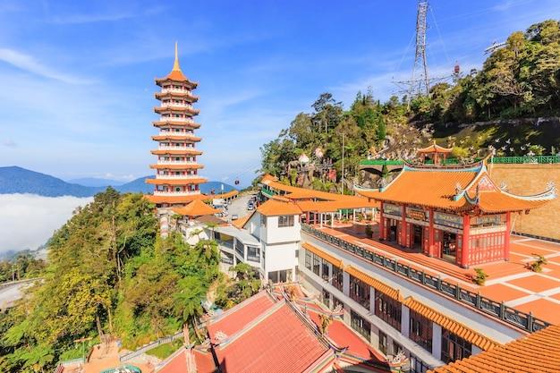 マレーシア、ゲンティンハイランドのチンスウィー寺院のパゴダ