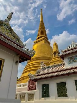 Pagoda of bowonniwet vihara temple bangkok, thailand