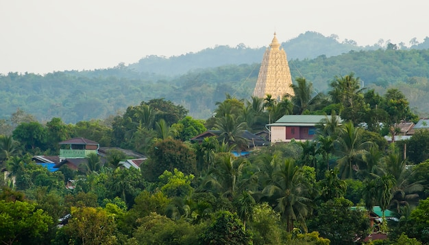 Pagoda in buddhism. take photo from wat wang vivek karam, amphur sangkla, kanchanaburi province,thai