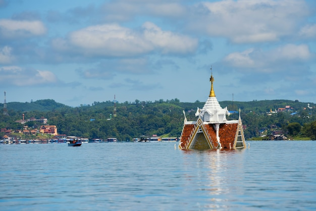 Pagoda flooded by songkalia river