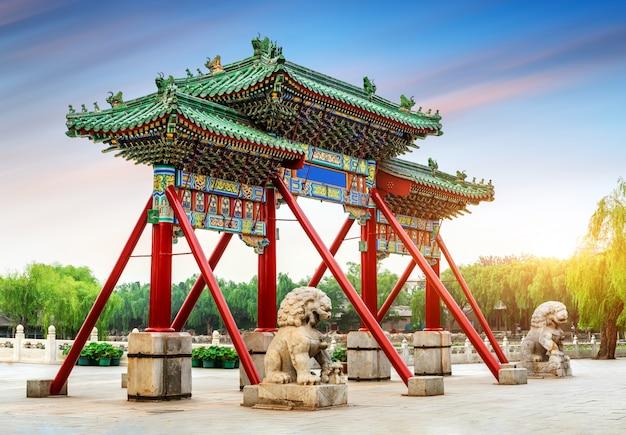 Paifang at the summer palace in beijing, china
