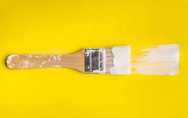 Кисть на бумаге цвет текстуры фона. концепция искусства