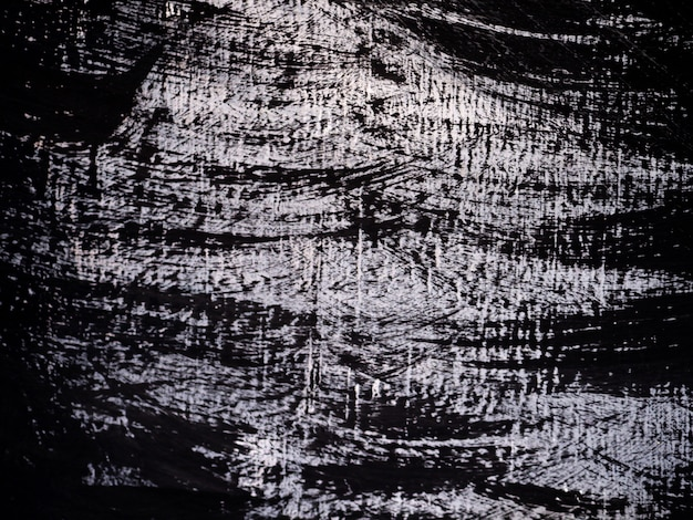 Paint brush stroke oil painting black and white