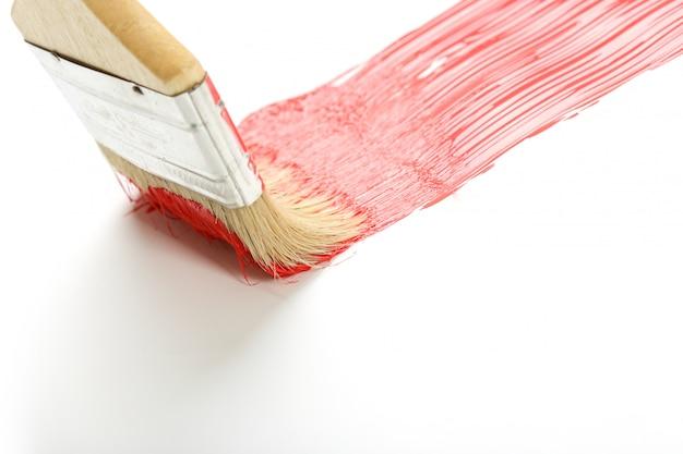 Paint brush on white surface