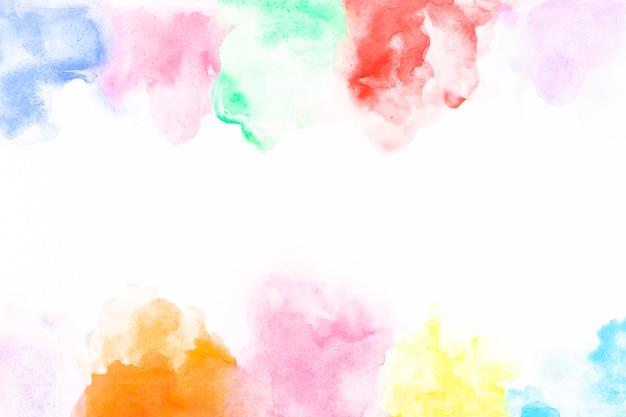 Paint palette on paper