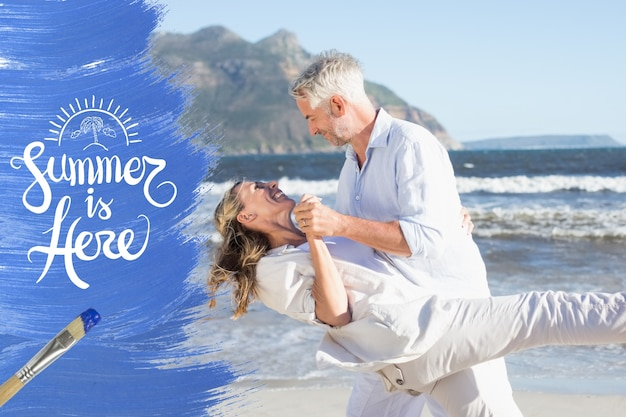 Paint romance beach shore season