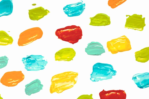 Paint smear textured background in colorful pattern for kids