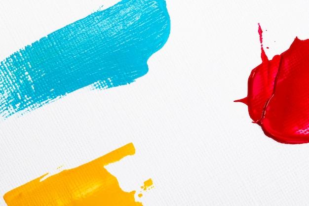 Мазок краски текстурированный фон границы в красном и синем абстрактном творчестве