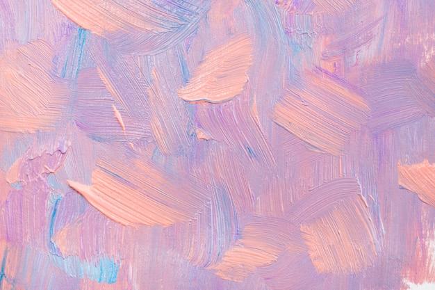 분홍색 미적 스타일의 창조적 인 예술에서 페인트 얼룩 질감 배경