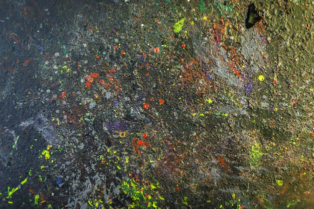 Paint-stained space, abstract texture