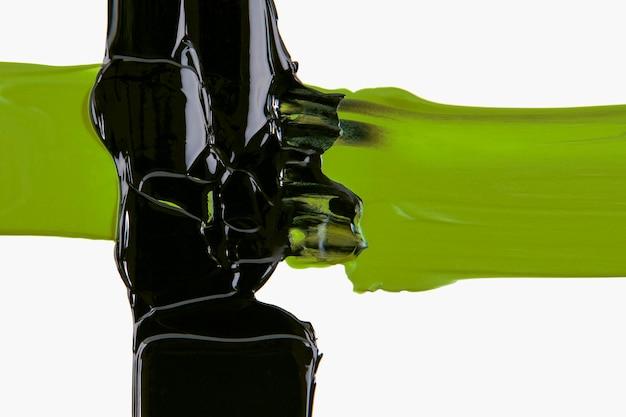 テクスチャの背景の壁紙、緑と黒の抽象芸術をペイントします。