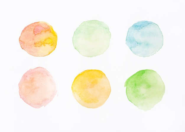 Painted abstract surface in watercolor
