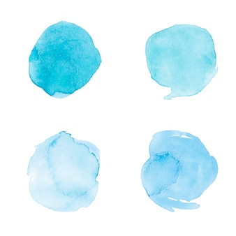 Painted artistic surface in watercolor