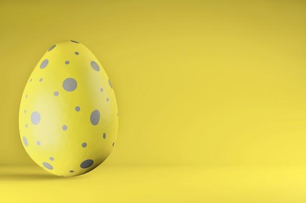 Расписанное пасхальное яйцо в модных цветах 2021 illuminating и ultimate grey Premium Фотографии