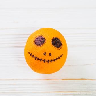 Painted gloomy orange