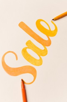 Painted lettering sale on white background