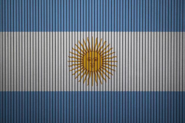 Painted national flag of argentina on a concrete wall