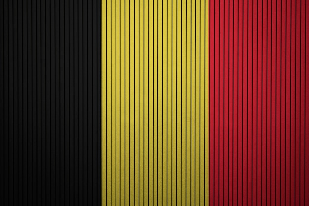 Painted national flag of belgium on a concrete wall