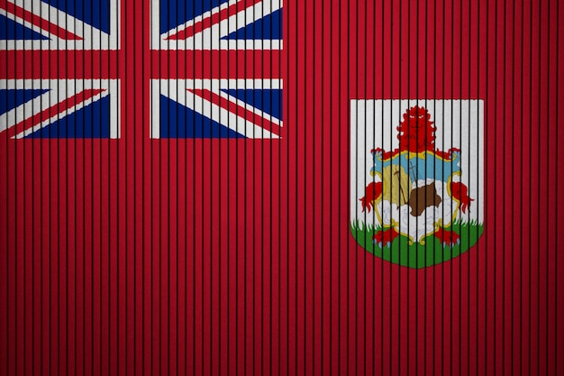 Painted national flag of bermuda on a concrete wall
