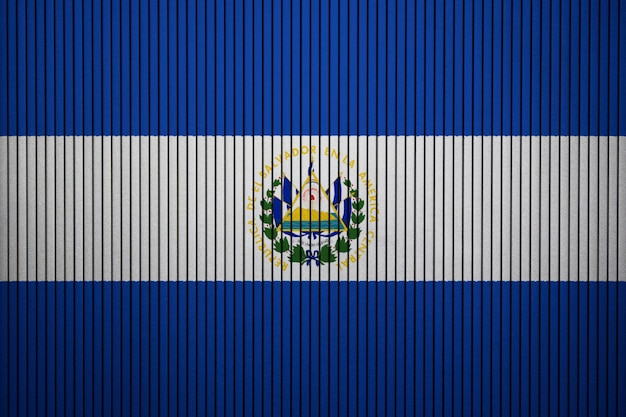 Painted national flag of el salvador on a concrete wall