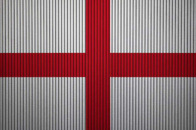 Painted national flag of england on a concrete wall