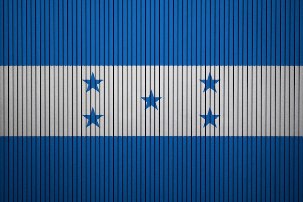 Painted national flag of honduras on a concrete wall