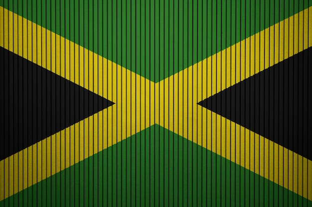 Painted national flag of jamaica on a concrete wall