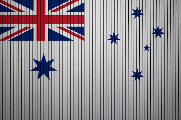 Painted national flag of naval ensign of australia on a concrete wall