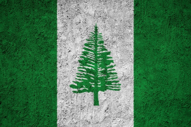 Painted national flag of norfolk island on a concrete wall