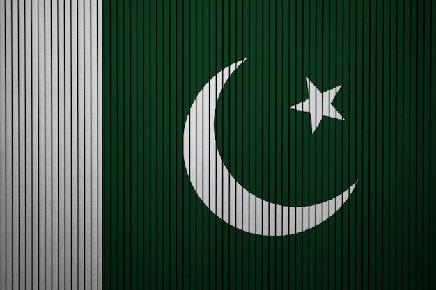 Painted national flag of pakistan on a concrete wall