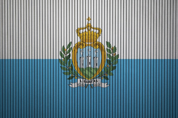 Painted national flag of san marino on a concrete wall