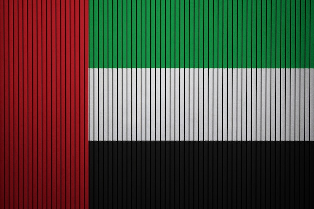 Painted national flag of united arab emirates on a concrete wall