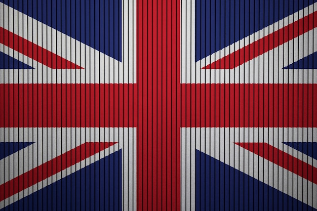 Painted national flag of united kingdom on a concrete wall