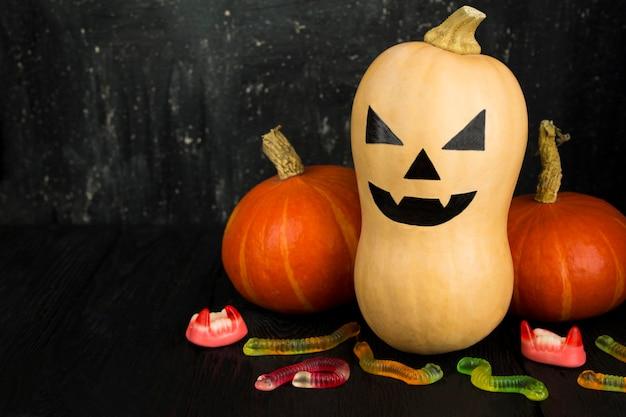 Painted pumpkin for halloween