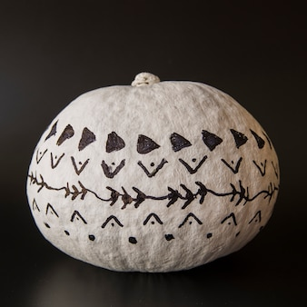 Painted pumpkin with creative design