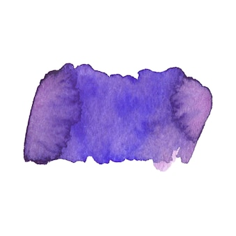 Painted purple shape. watercolor painting texture.