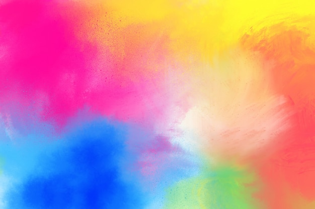 Painted rainbow brush strokes