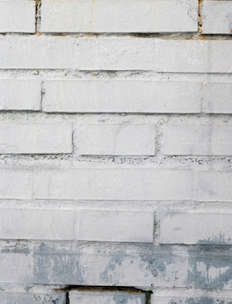 Painted rough brick wall