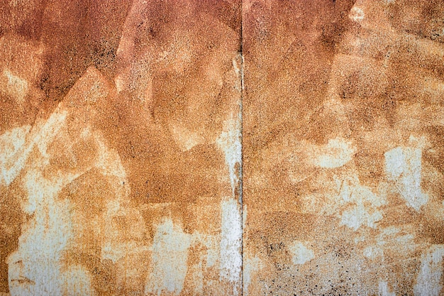 Painted rusted metal background