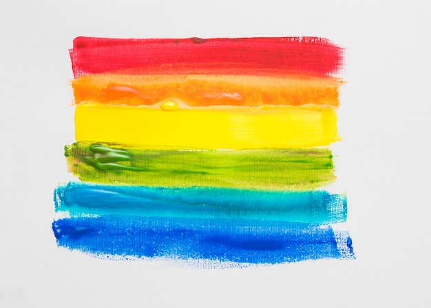 Lgbt 색상의 페인트 줄무늬