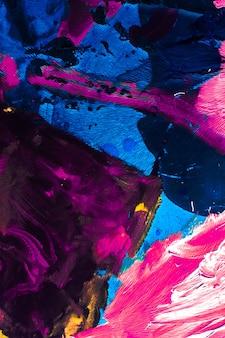 페인트 질감 예술적 배경 및 현대 회화 개념 추상 아크릴 페인트 스트로크 아트 br ...