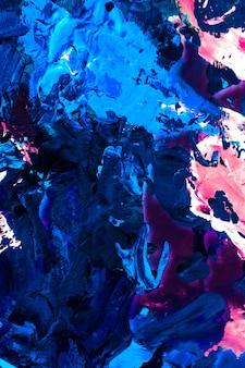 페인트 질감 예술적 배경 및 현대 회화 개념 추상 아크릴 페인트 스트로크 아트 브러시 flatlay 배경