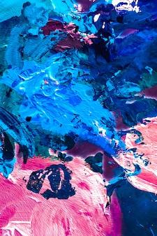 Окрашенная текстура художественная текстура фон и концепция современной живописи абстрактные мазки акриловой краской художественная кисть flatlay