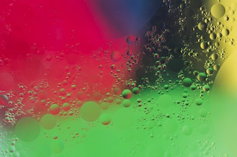 Painted textured background with bubble pattern
