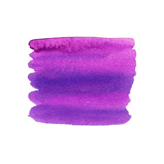 Painted violet brushstroke. watercolor texture.