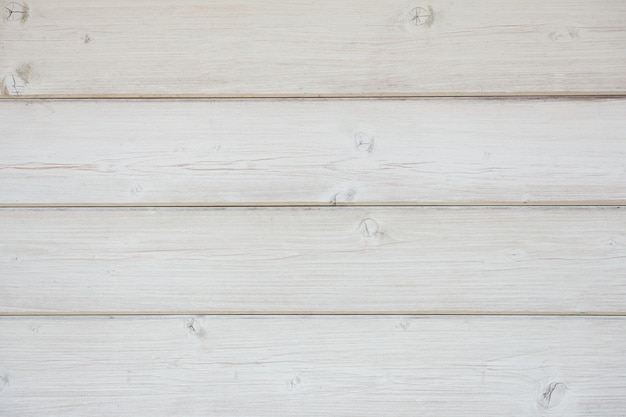 Painted wooden wall of boards arranged horizontally closeup