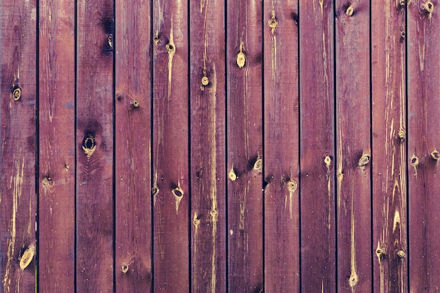 Painted wooden wall