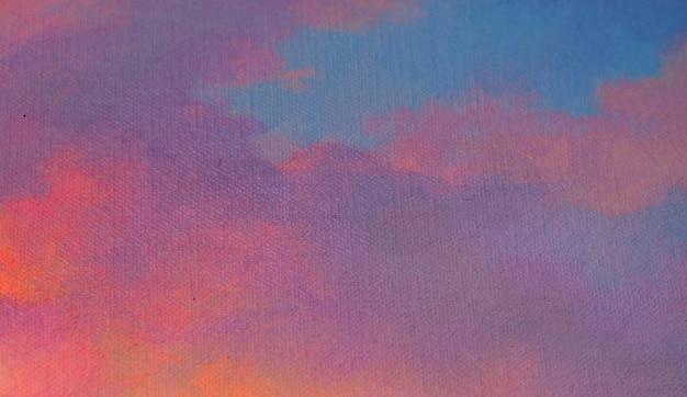 일몰 후 질감 부드러운 하늘 추상 배경 그림