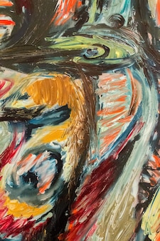 Painting detail of the berardo collection in centro cultural of belem, lisbon.