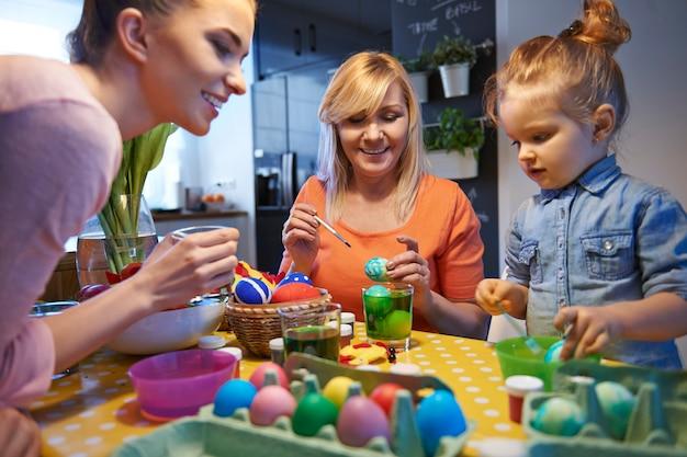 부활절 달걀을 그리는 것은 우리의 전통입니다